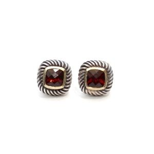 David Yurman Red Garnet Cable Stud Earrings